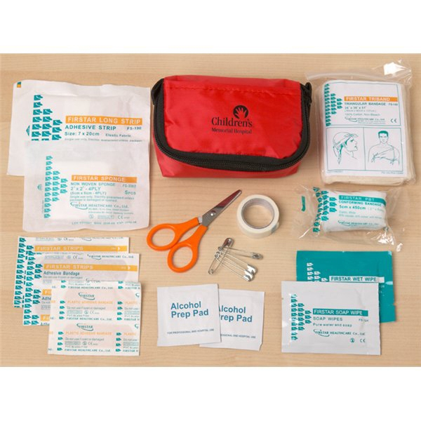 Travel Size First Aid Kit With Zippered Pouch, 24 Pieces Photo