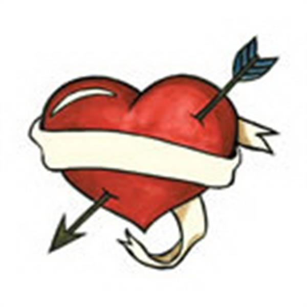 Banner Heart, Stock Tattoo Designs Photo