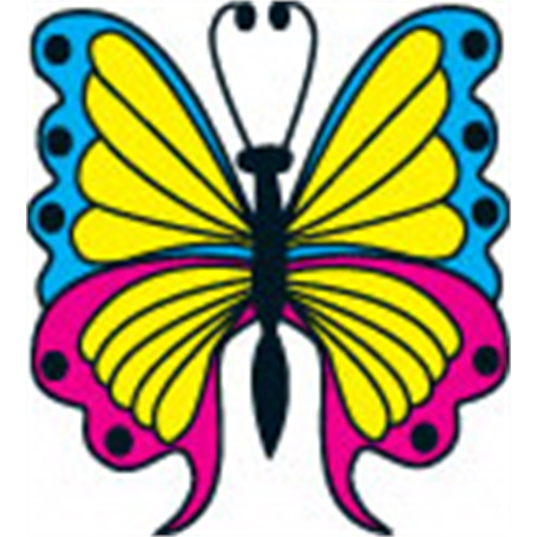 Butterfly 2 (with Glitter), Stock Tattoo Designs Photo