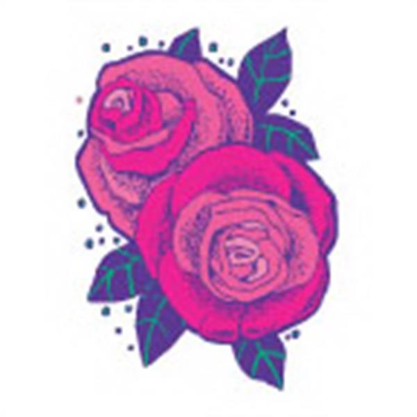 2 Roses (with Glitter), Stock Tattoo Designs Photo