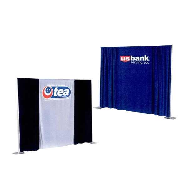 "Logodrape - Premium Quality Polyester Drape Panel With 4"" Rod Pocket And 3 Color Imprint Photo"