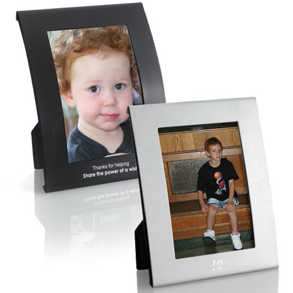 """Curved Frame - Silver 3 1/2"""" x 5"""" Photo"""