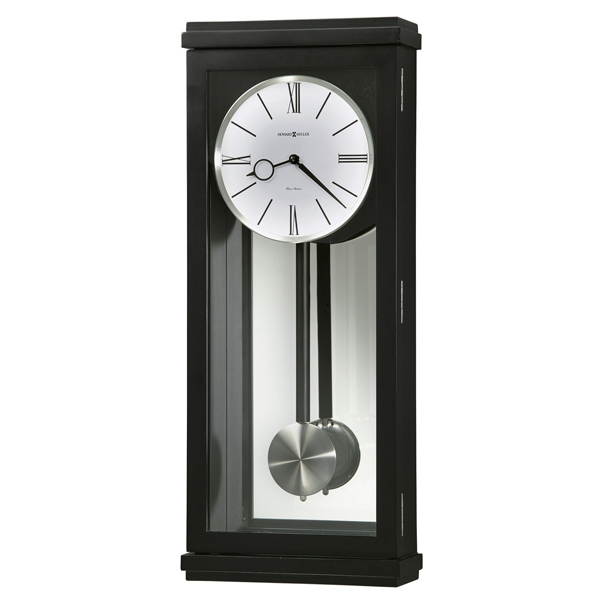 Alvarez - Contemporary Black Satin Quartz Wall Clock Photo