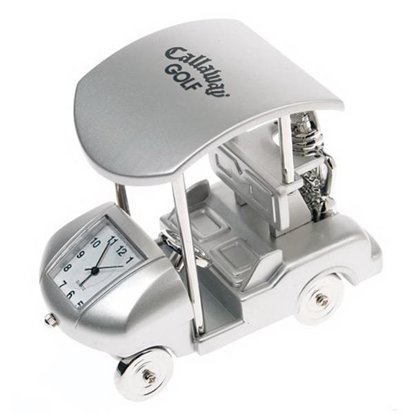 Metal Golf Cart Clock