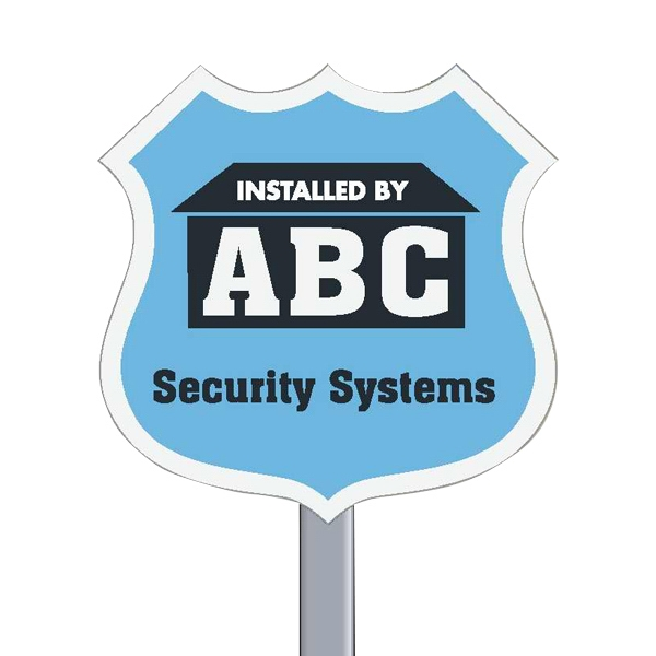 "9"" X 9"" Badge Reflective Security Yard Sign Made Of White Polyethylene Photo"