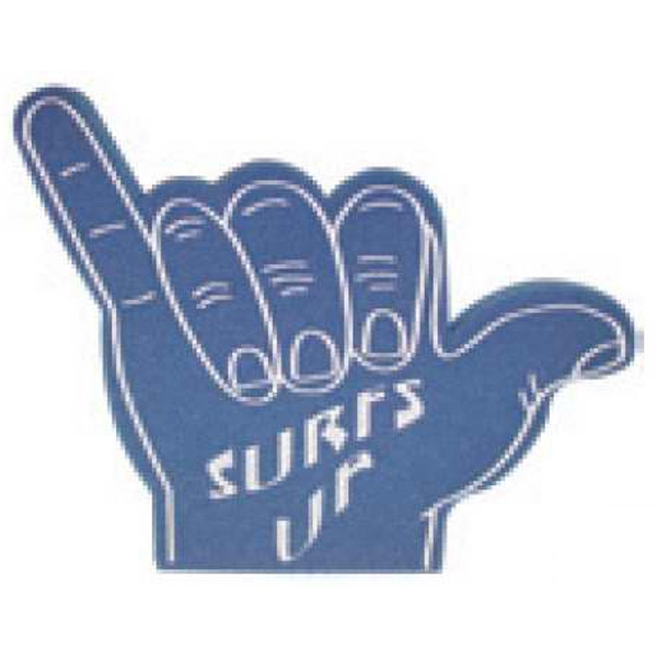 "11"" - Foam Hand Waver With Hang Loose Hand Design Photo"
