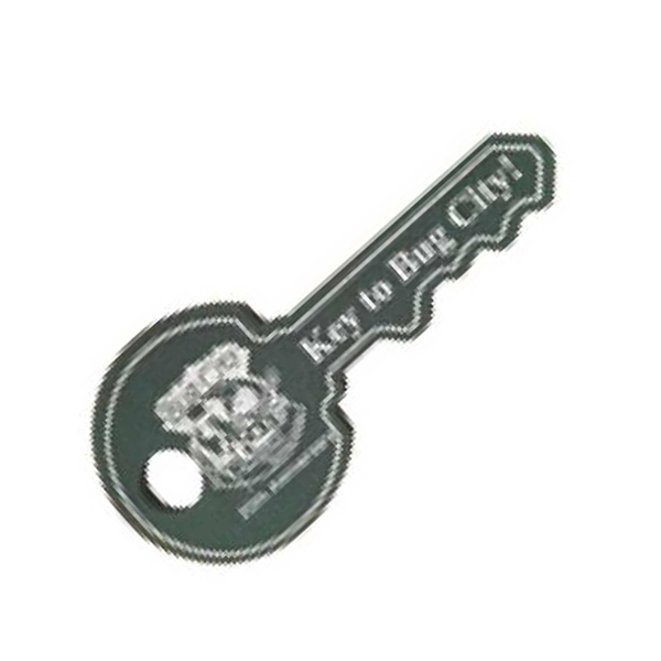 "Foam Key Shaped Novelty Waver, 12"" Photo"