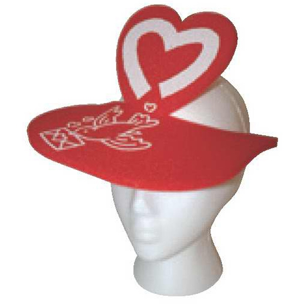 Foam Visor With Heart Shape Extension Photo