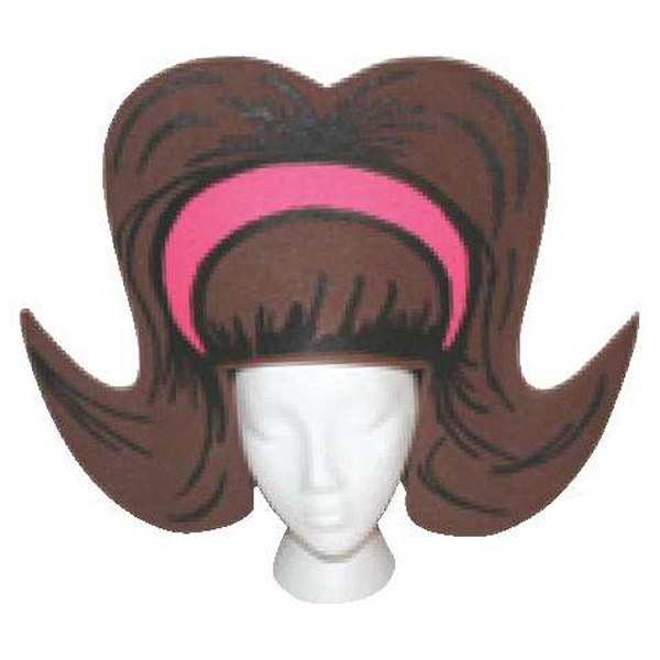 Large - Foam Bouffant Hairdo Shaped Hat Photo
