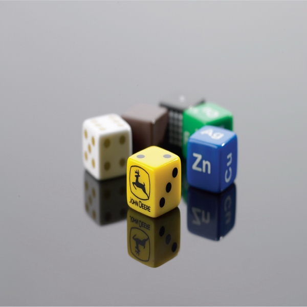 "These 5/8"" Custom-imprinted Opaque Dice Are Available, With Your Design On All Sides Photo"