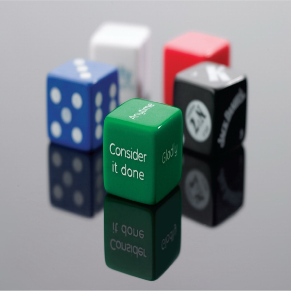 Custom Large Novelty Size Dice (25mm) Photo