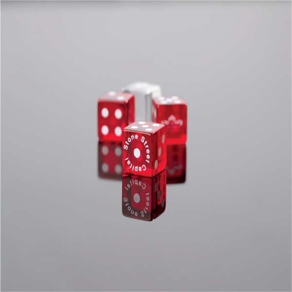 "Custom Imprinted, Transparent Dice, 3/4"" Photo"