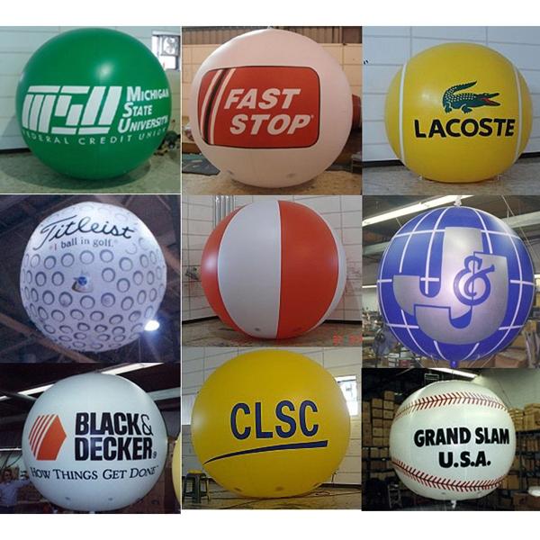 Inflatable ball shape