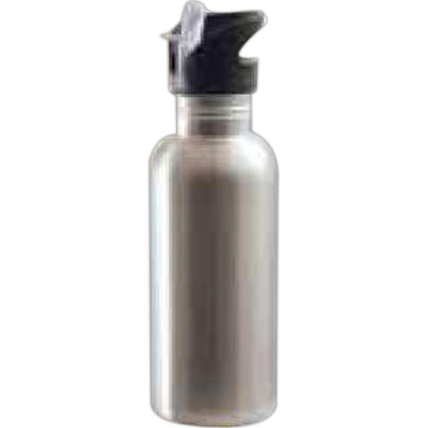 Silver - This Stylish Stainless Steel Water Bottle Is Great For Promotions, Events And More! Photo