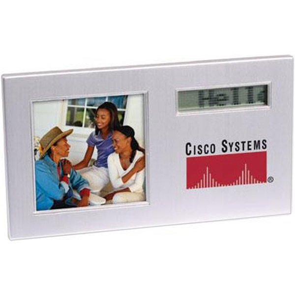 Scrolling Message Photo Frame With Alarm Clock Photo