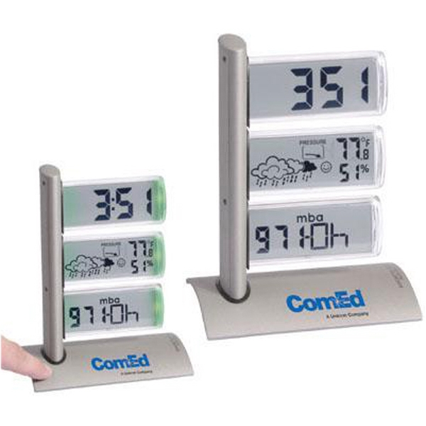 Triple Display Weather Station Alarm Clock Photo