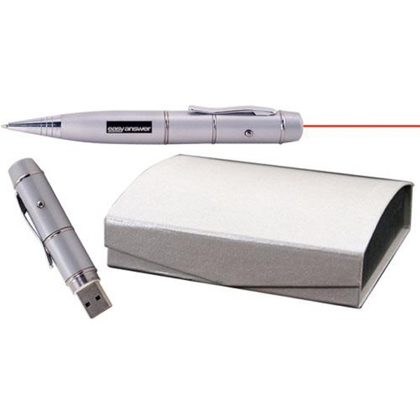 256mb - Usb 2.0 Flash Drive Doubles As A Laser Pointer With Ballpoint Pen Photo