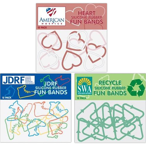 Custom Shape Silicone Fun Bands Photo