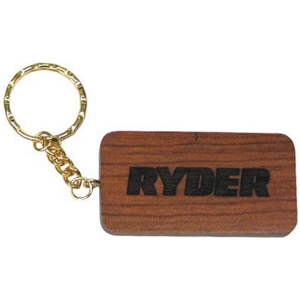 Rectangle Shape Solid Wood Key Tag Photo