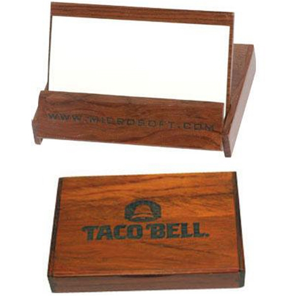 Rosewood Colored Business Card Holder Photo
