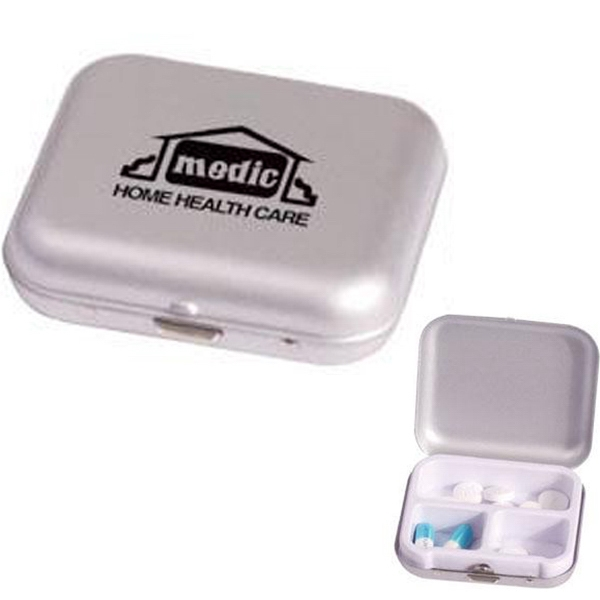 Aluminum Pill Case With Three Separate Compartments Photo