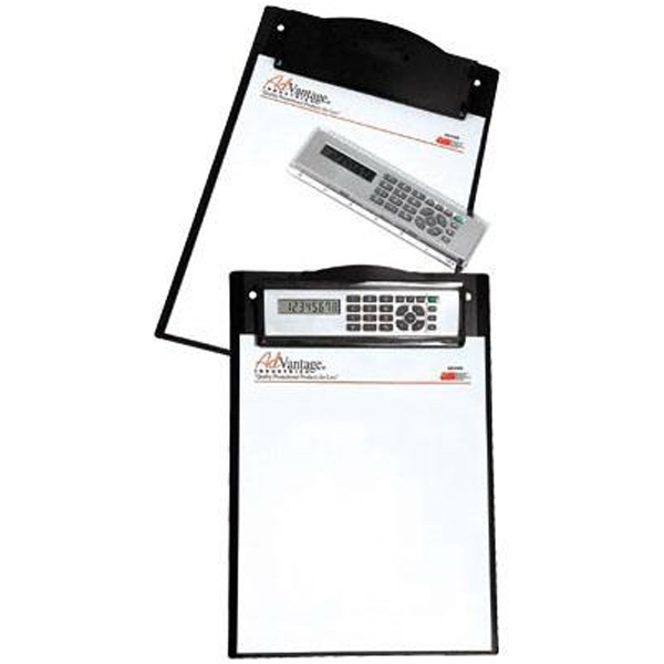 Letter Size Plastic Clipboard With A Removable Dual Powered Calculator/ruler Photo