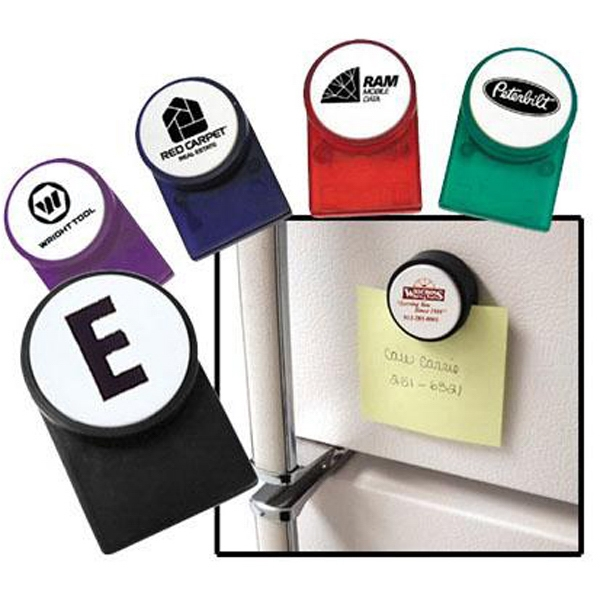 Magnetic Memo Clip With White Push Button, Holds Up To 25 Sheets Of Paper Photo
