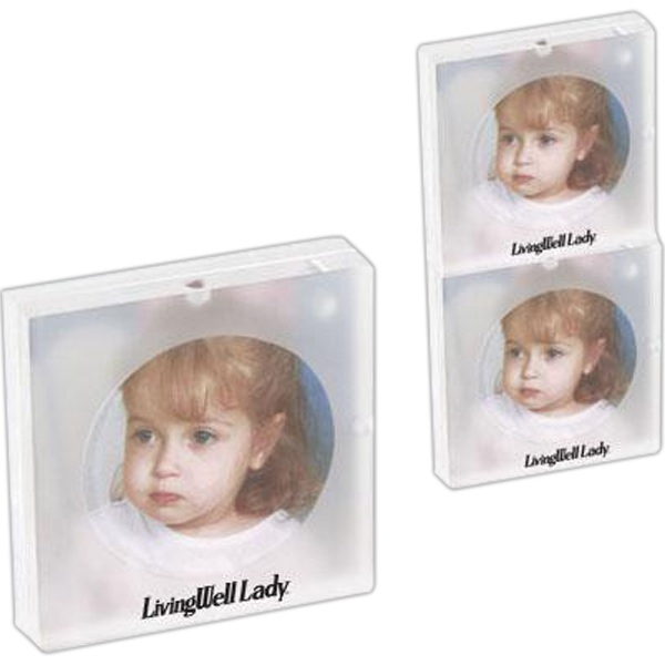 "3"" x 3"" Acrylic magnetic stacking photo frame - Acrylic magnetic stacking photo frame."