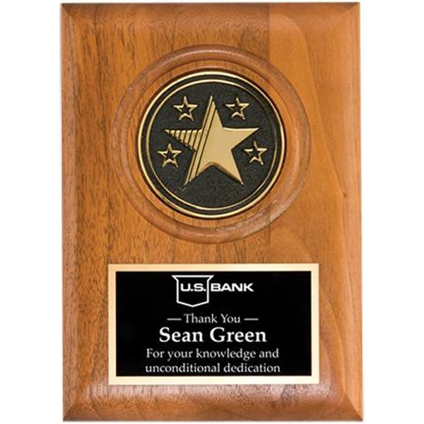 "Large Star Medallion Plaque, 9"" X 12"" Photo"