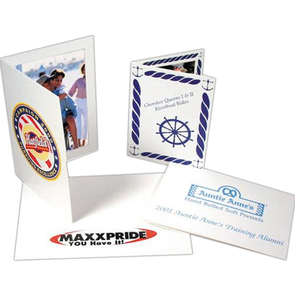 "One Side - Custom Printed Paper Photo Frame And Folders, 5"" X 7"" Photo"