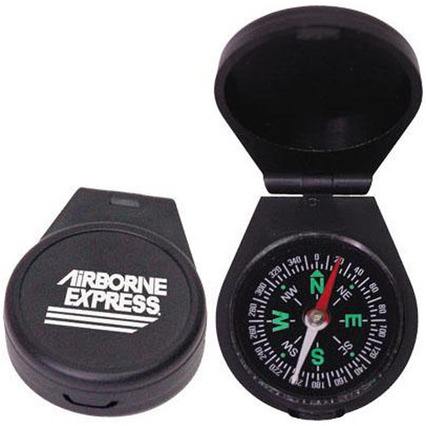 "Liquid Filled Compass With Fold Over Snap Closure, 1 3/4"" Diameter Photo"