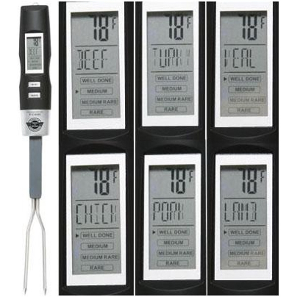 Chef's Perfection - Thermometer Grilling Fork With Backlit Lcd Display Photo