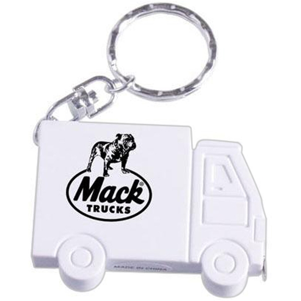Truck Shaped Key Ring With 3' Tape Measure Photo