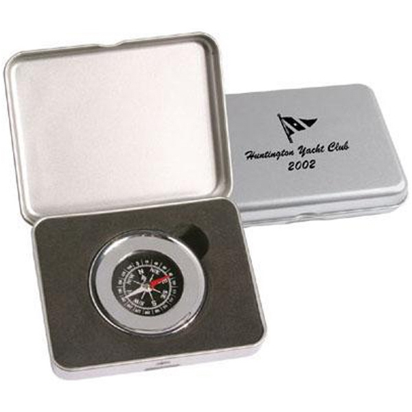 Chrome Plated Compass Paperweight Photo
