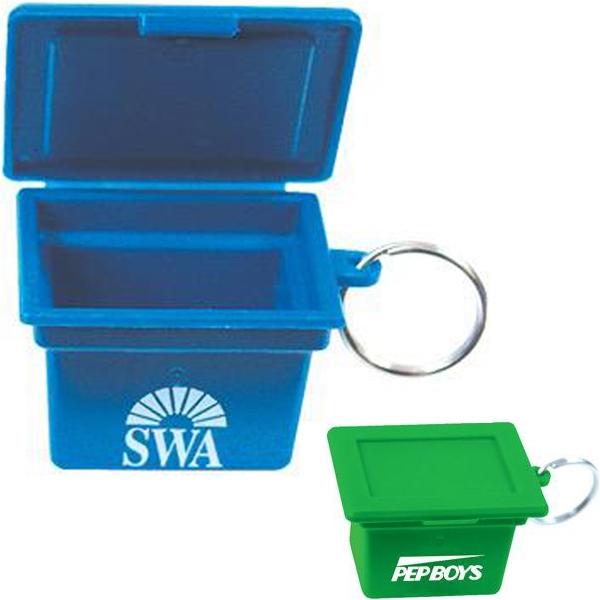 Mini Recycling Box Shape Key Ring Made From Recycled Plastic Photo