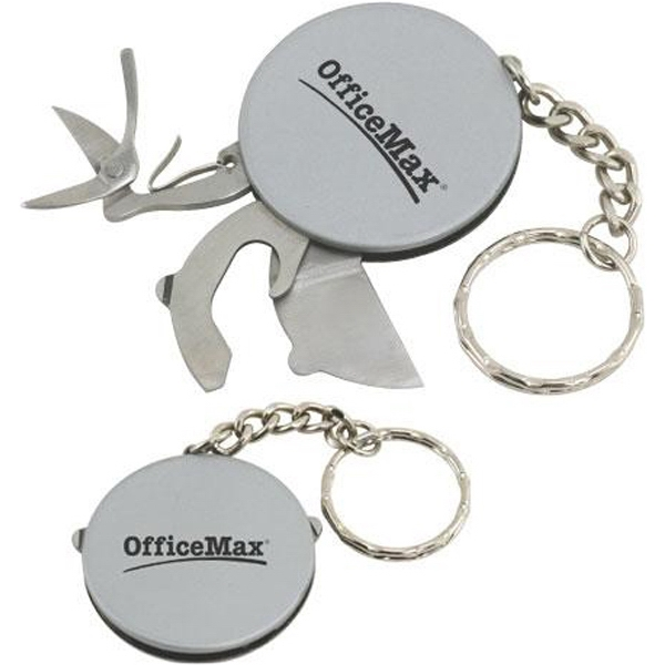 Stainless Steel Multi-tool Disk With Keychain Photo