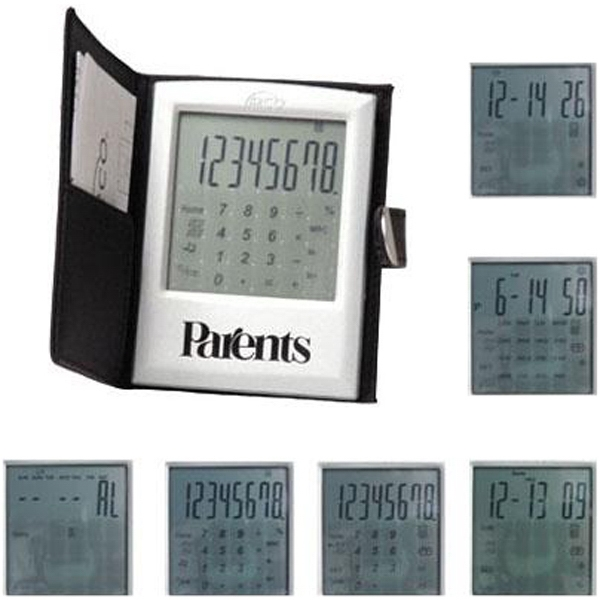 World Class - Touch Screen Calculator With Case, Shows World Time In 16 Cities Photo