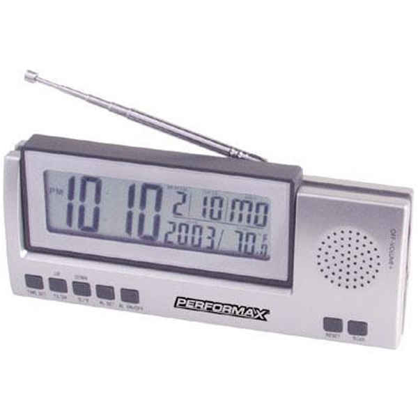 Jumbo Lcd Radio With Clock, Day, Date And Temperature Photo