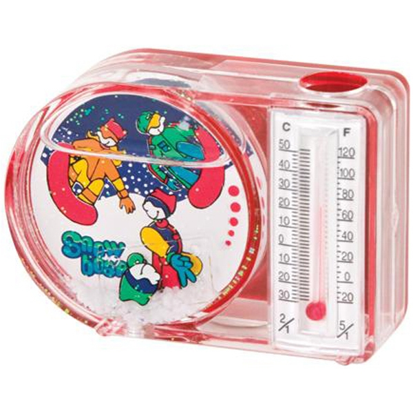 Water Filled Magnetic Pen Holder With Thermometer Photo