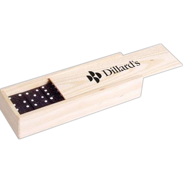 Dominoes In Wood Box Photo