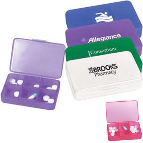 Plastic Pill Case With Six Compartments Photo
