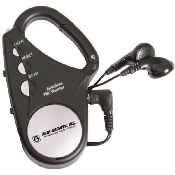 Fm Weather Band Carabiner Scan Radio With Flashlight Photo
