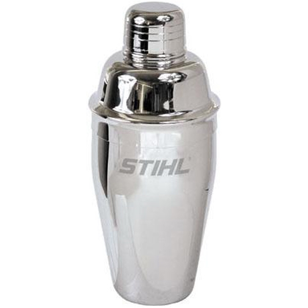 Highly Polished 18/8 Stainless Steel Martini Shaker Includes Strainer Lid And Cap Photo
