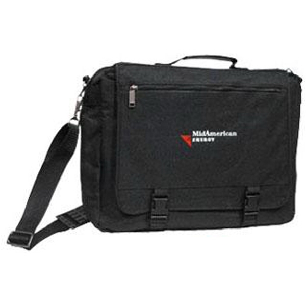 Black Cordura Nylon Briefcase With Expandable Laptop Computer Compartment Photo