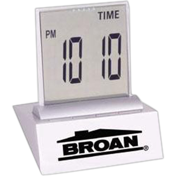 "Multi-function Lcd Desk Alarm Clock With Easy To Read, 1 1/4"" High Digits Photo"