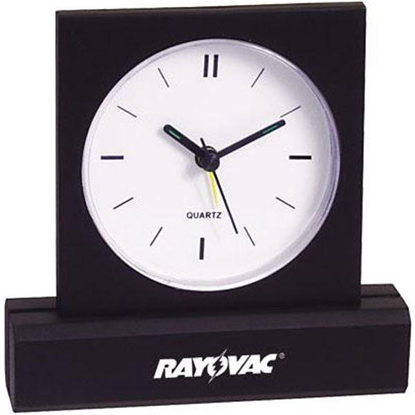 Rectangular Base Desk Clock With Alarm Features A Slim And Elegant Design Photo
