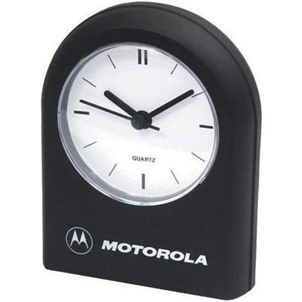 Rounded Top Quartz Analog Desk Alarm Clock With Second Hand Photo