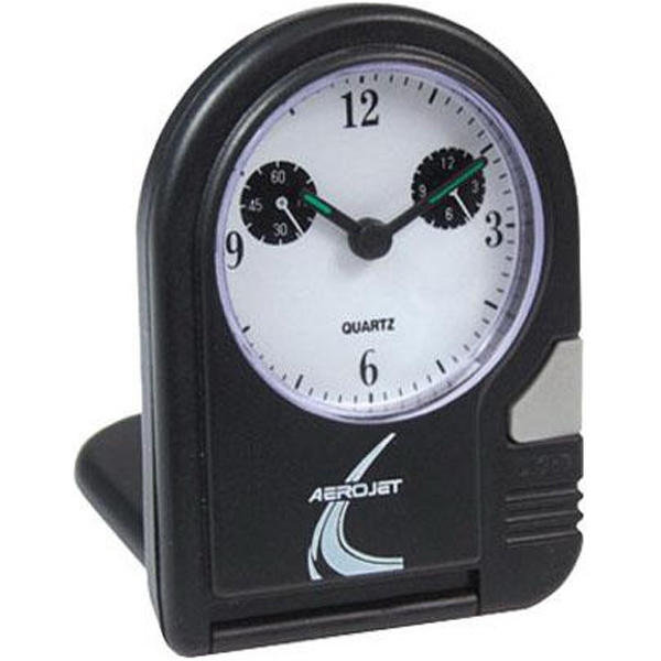 Folding Travel Alarm Clock With Cover/stand And Built In Dial Light Photo