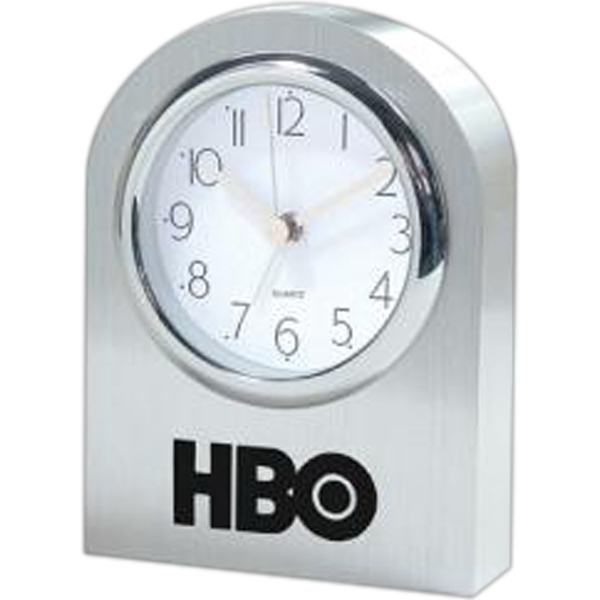 Solid Aluminum Arched Desk Clock With Swiss Movement Photo