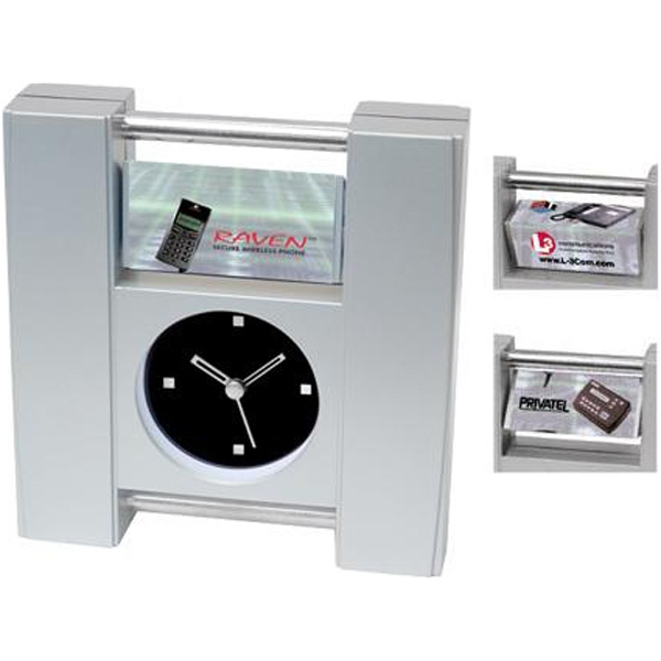 Rotating Ad Desk Clock With Second Hand Photo
